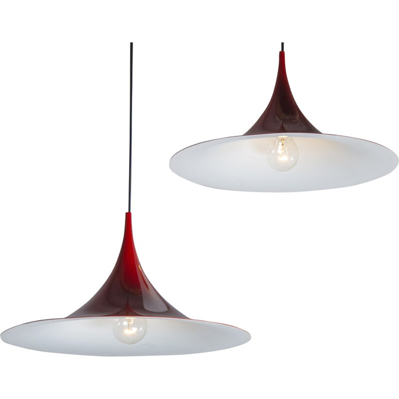 Pair of Semi Pendants by Claus Bonderup & Torsten Thorup for Fog & Mørup - 1960s