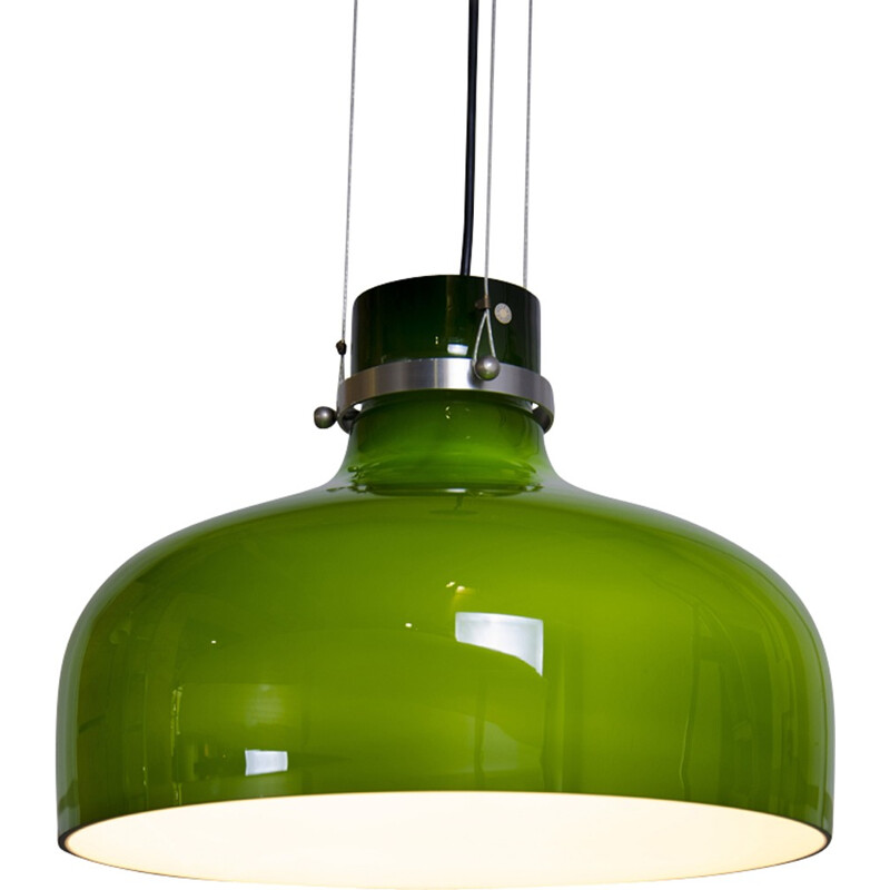 Green Glass Hanging lamp by Holmegaard - 1960s