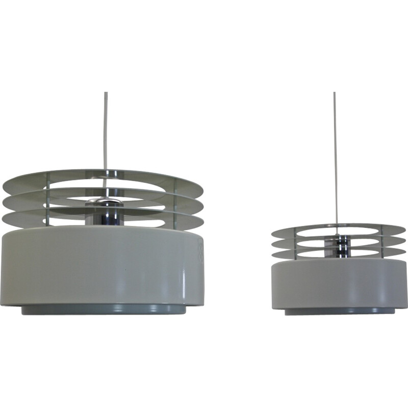 "Pair of Danish ""Hydra 2"" hanging lamps by Jo Hammerborg for Fog and Morup - 1960s"