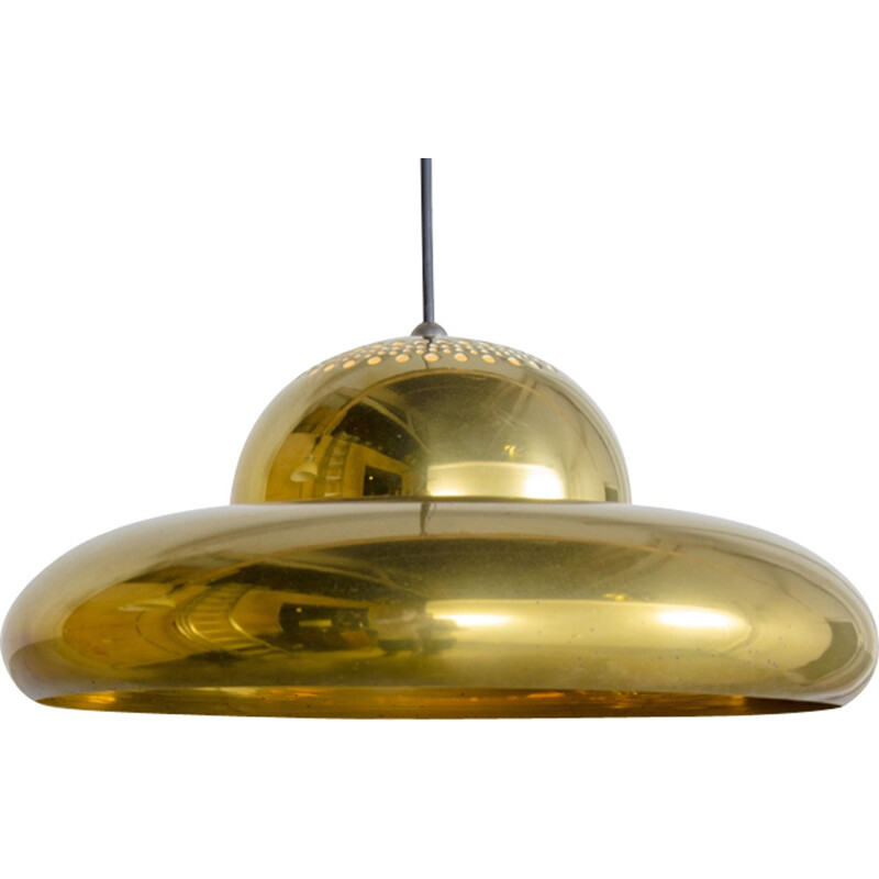 "Brass ""Fior di Loto"" Pendant Lamp by Afra and Tobia Scarpa for Flos - 1960s"