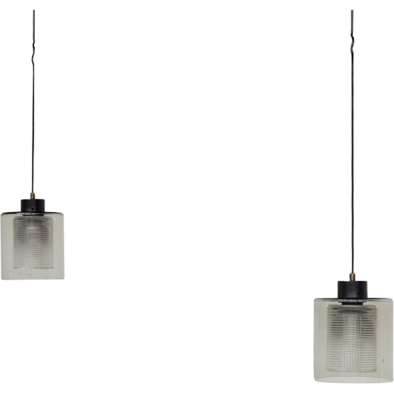 Pair of pendant lights by Carl Fagerlund for Orrefors - 1960s