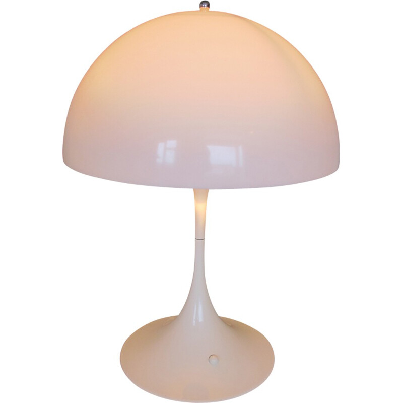 "Vintage White ""Panthella"" Table Lamp by Verner Panton for Louis Poulsen - 1970s"