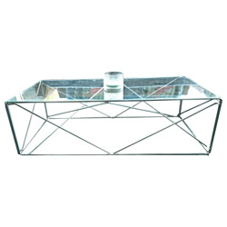 Rectangular coffee table in glass, Max SAUZE - 1970s