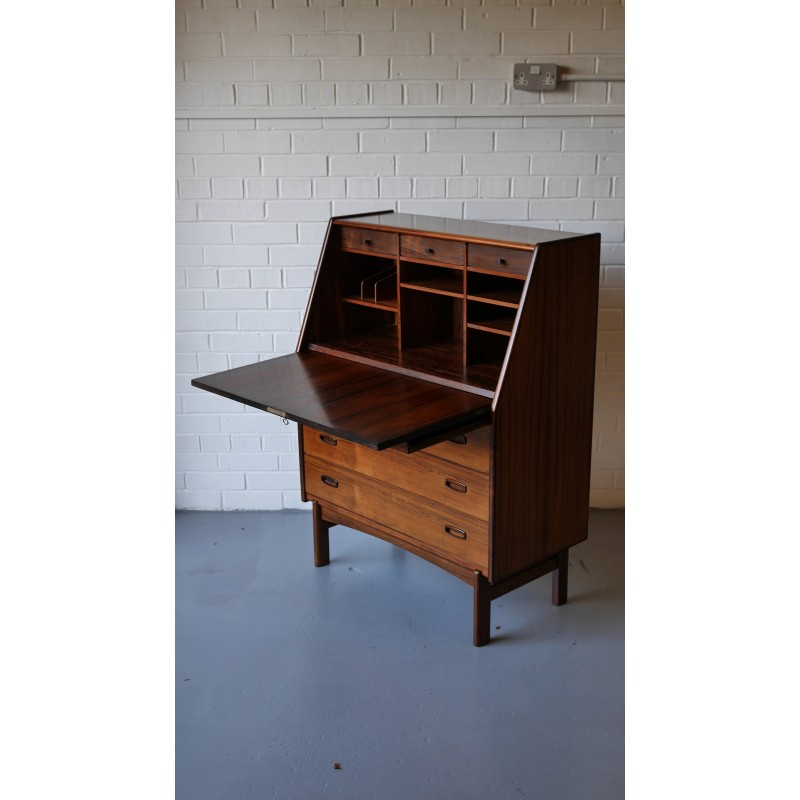 vintage secretary chair desk antique updated with