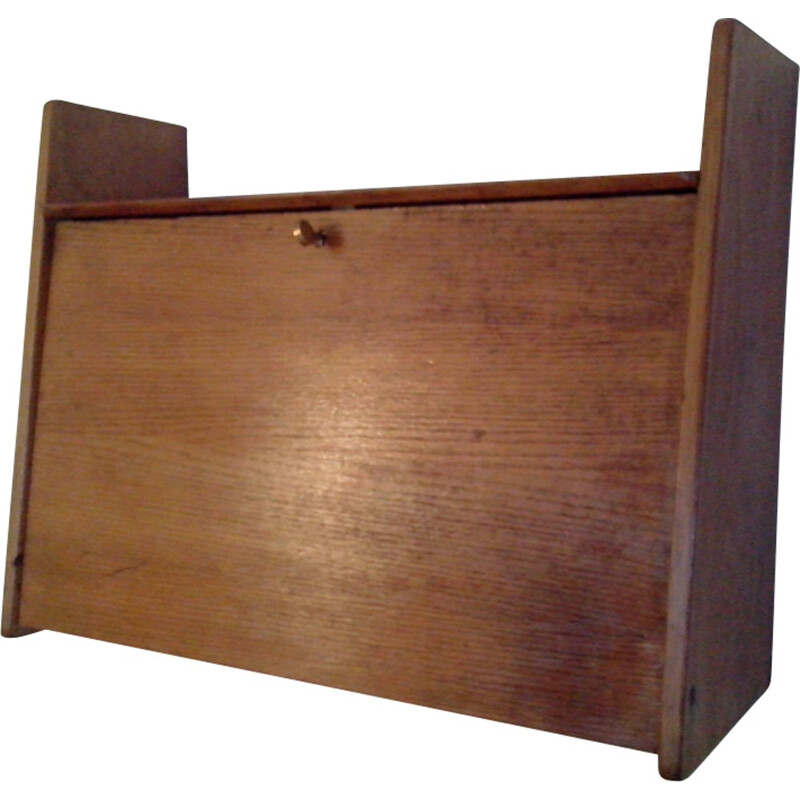 Vintage secretary made of oak by Marcel gascoin - 1960s
