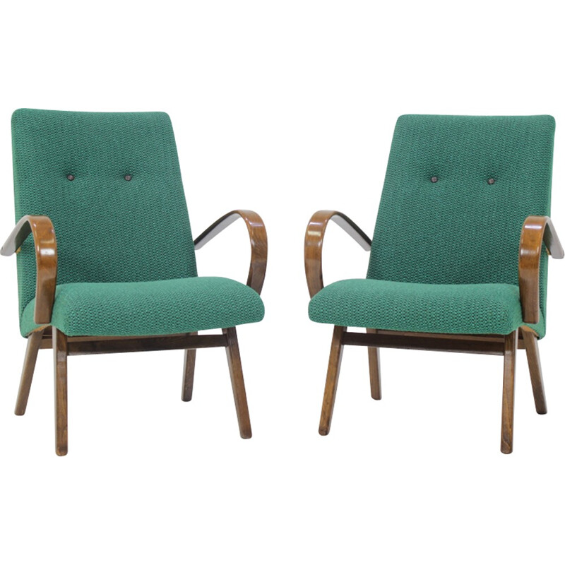 Vintage Bentwood Lounge chairs by Thon Thonet - 1960s