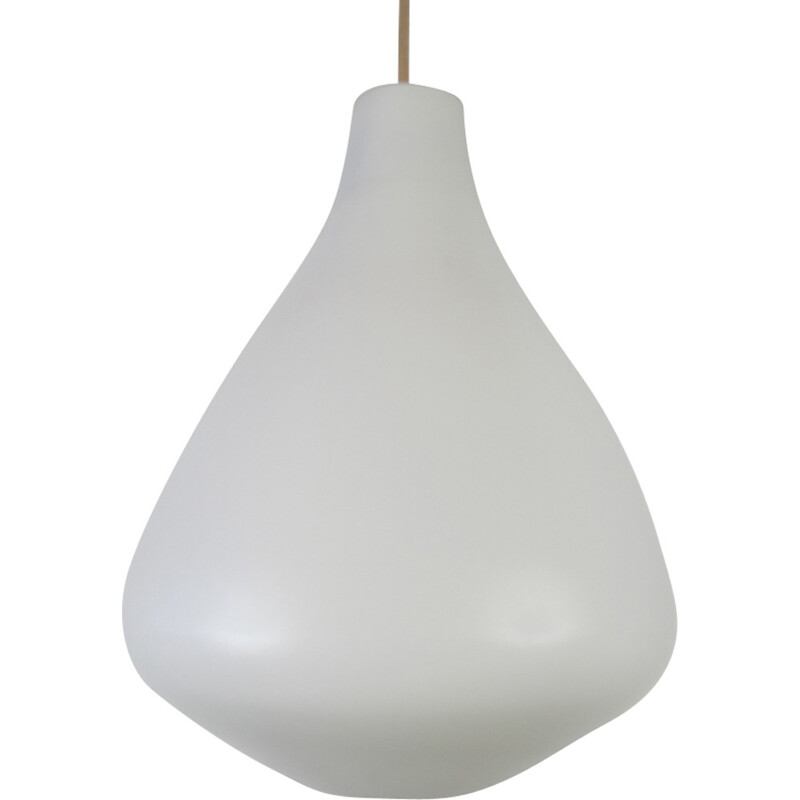 Opaline glass pendant from Raak - 1960s