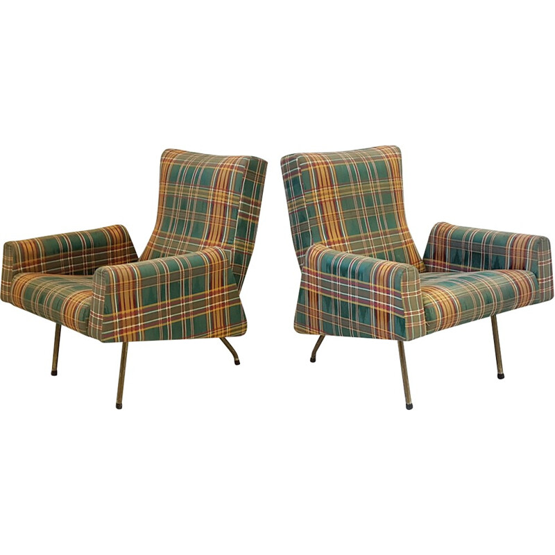 Pair of armchairs by Louis Paolozzi for Zol - 1950s