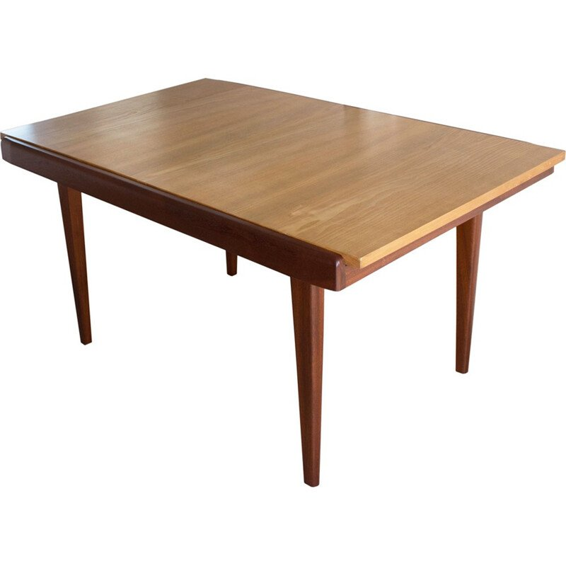 Vintage French extendable dining table - 1960s