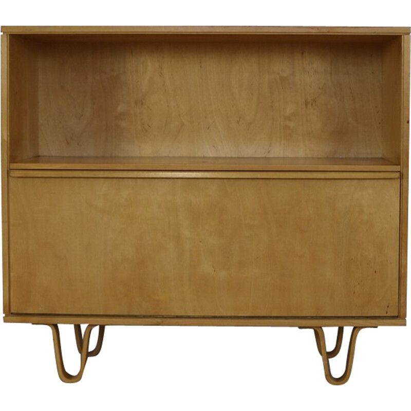 Bowlegged bookcase with flapdoor by Cees Braakman - 1950s