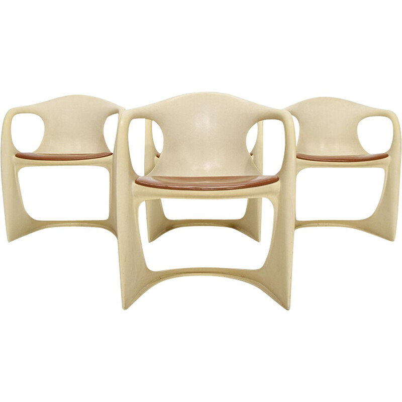 "Set of 4 ""Casalino"" vintage armchairs by Alexander Begge for Casala - 1970s"
