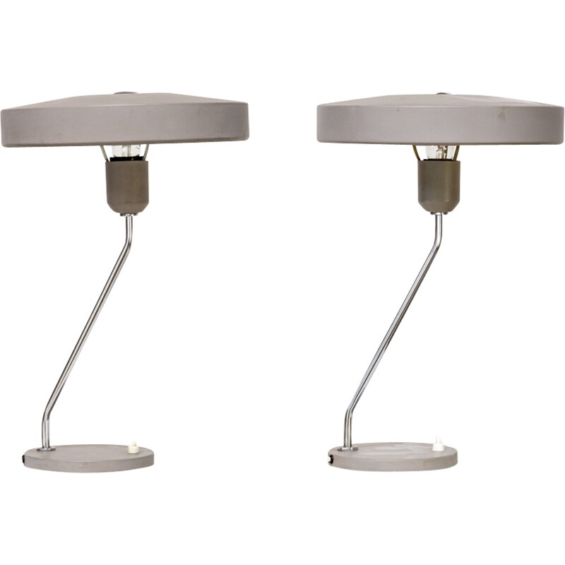Set of 2 table lamp by Louis Kalff for Philips - 1960s