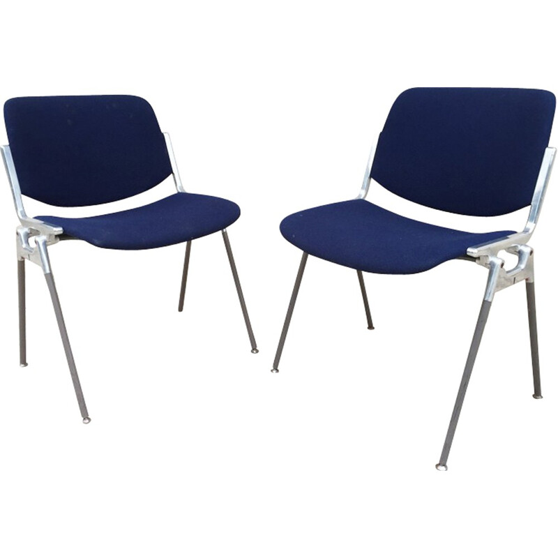 Set of 2 chairs by Giancarlo Piretti for Castelli - 1970s