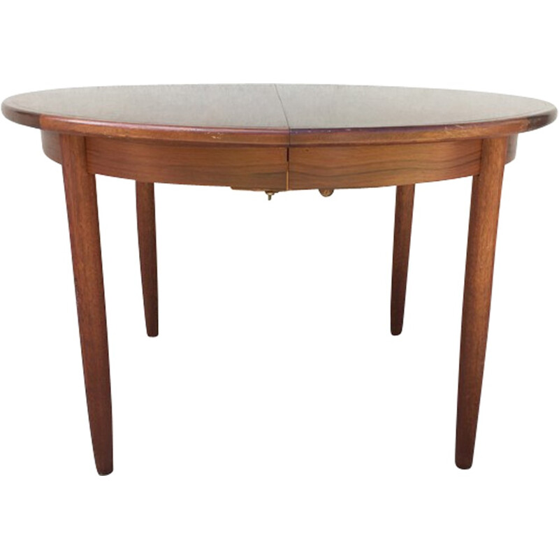 Vintage round Scandinavian dining table - 1960s