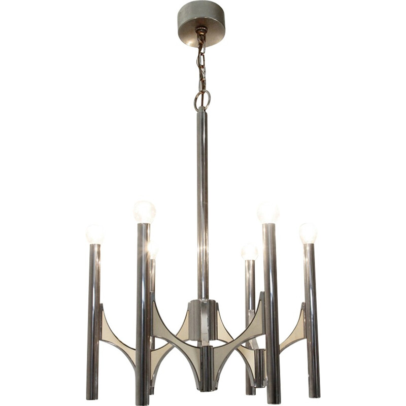 Vintage Chandelier with six lights included by Sciolari - 1970s