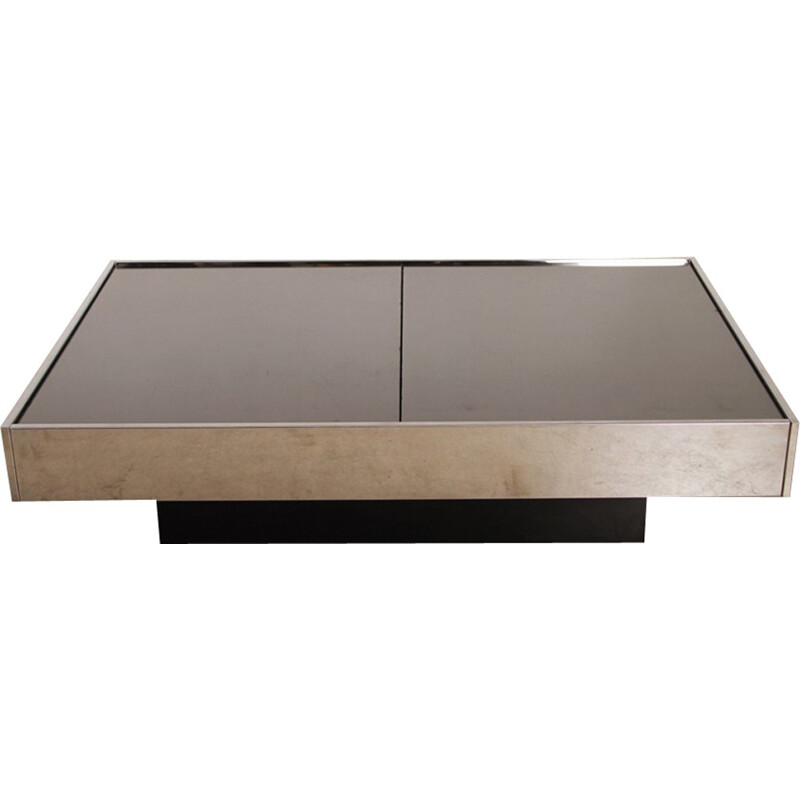 Vintage coffee table by Willy Rizzo - 1970s
