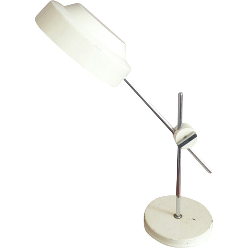 Vintage Scandinavian White Desk Lamp - 1970s