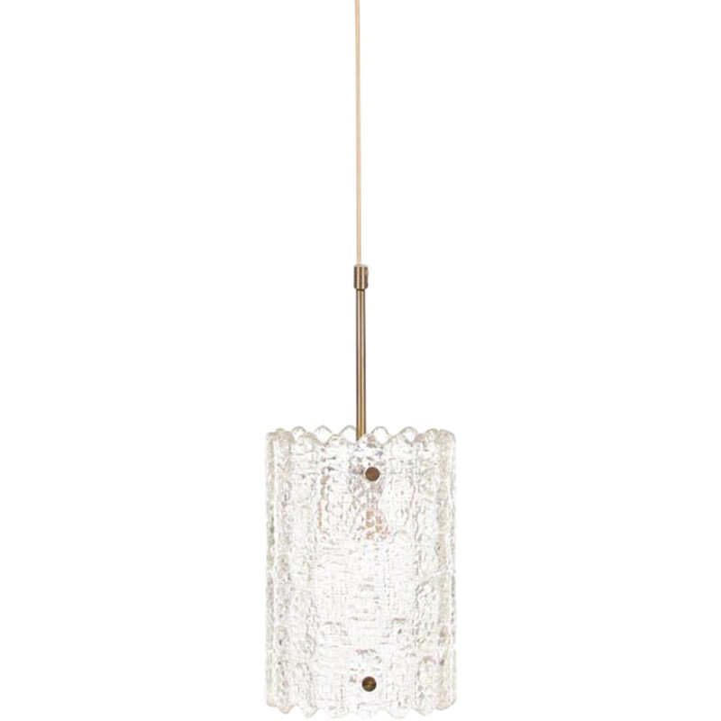 Crystal and Brass hanging lamp by Carl Fagerlund for Orrefors - 1690s