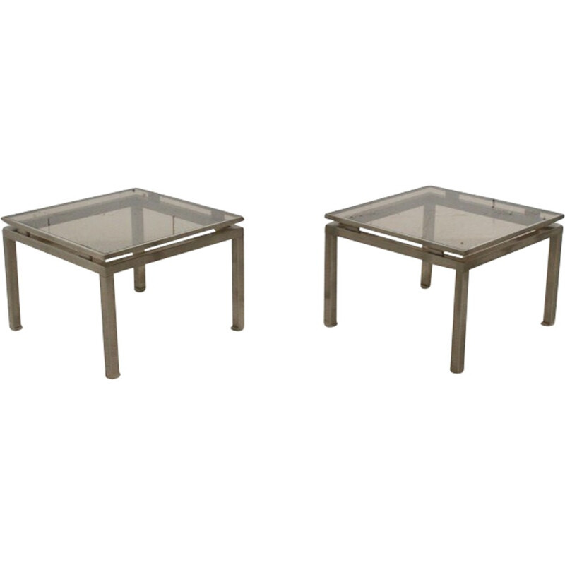 Pair of side table by Guy Lefèvre for Jansen - 1970s
