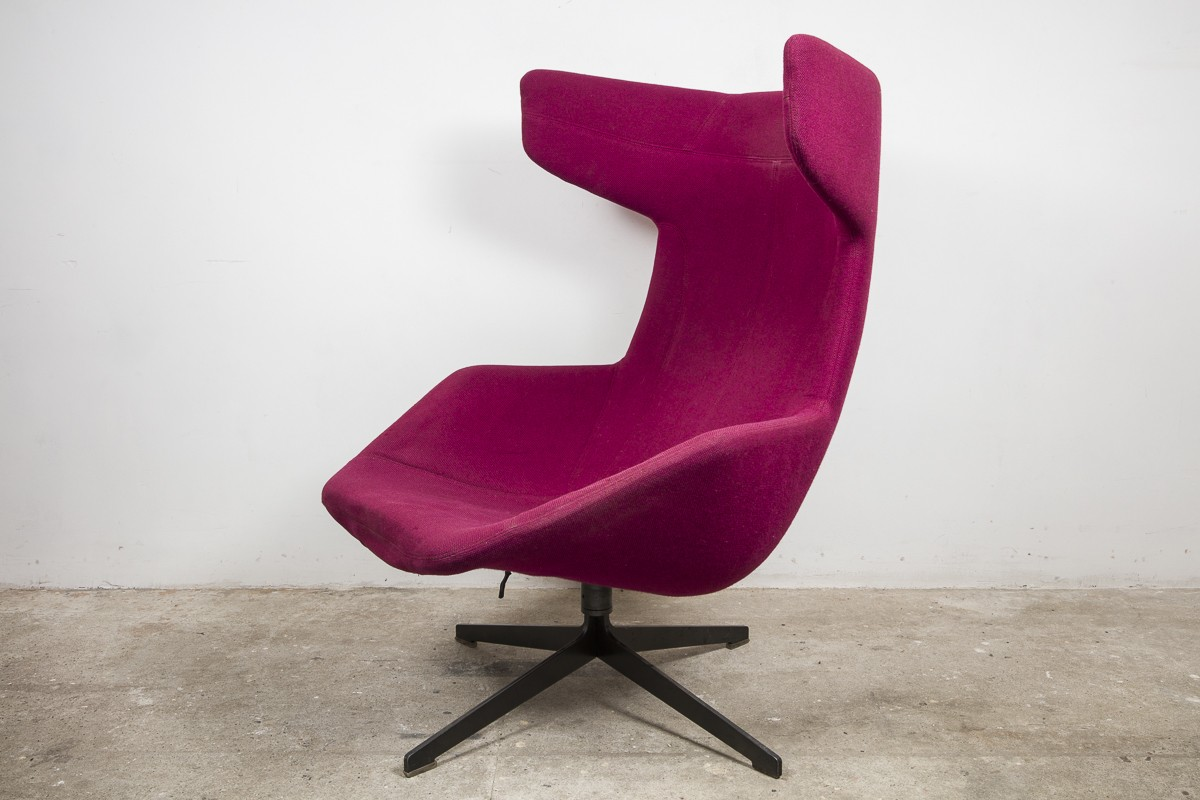 Lounge swivel wingback chair by Alfredo Haberli for Moroso 2000s