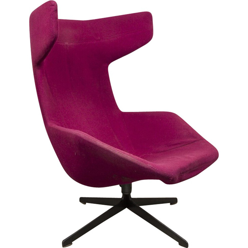 Lounge swivel wingback chair by Alfredo Haberli for Moroso - 2000s