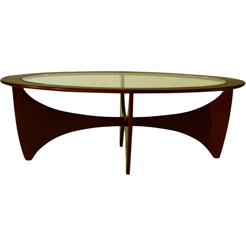 Oval vintage coffee table by Viktor Wilkins for G-plan- 14960s