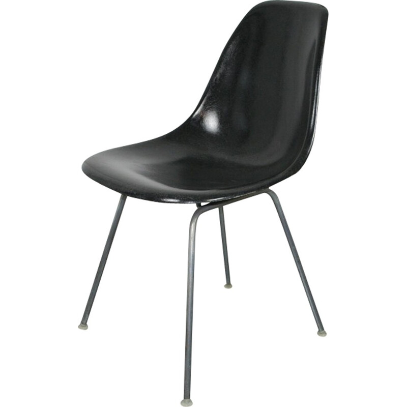 Mid-century DSX black chair by Eames for Herman Miller - 1950s