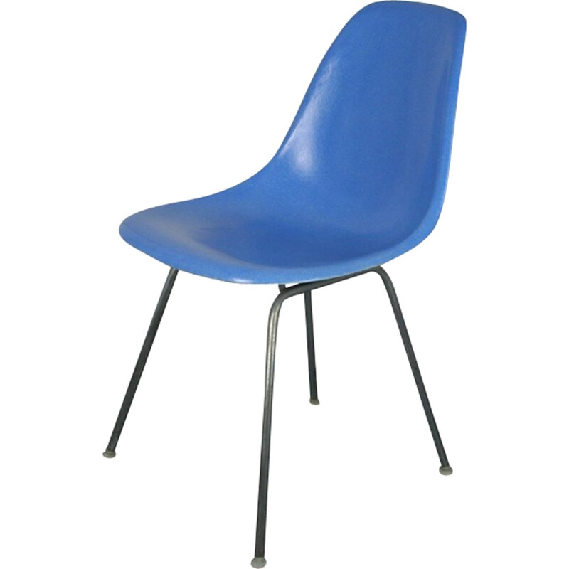 Mid-century Turquoise Blue Chair by Eames Herman Miller - 1950s