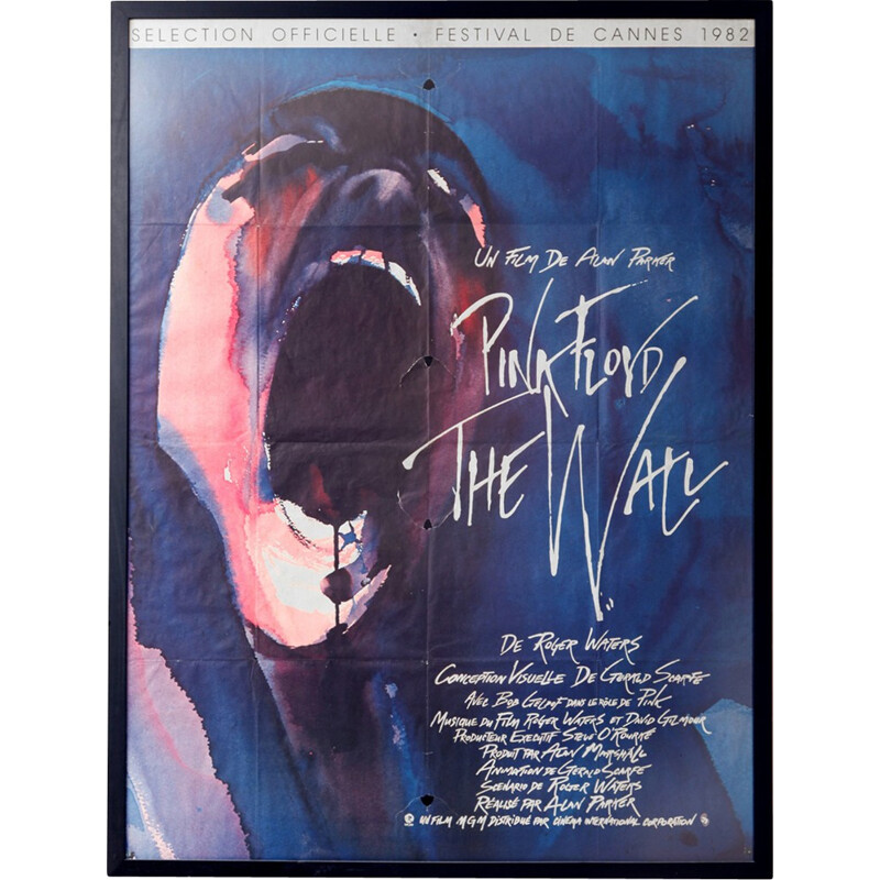 """""""Pink Floyd The Wall"""" film poster - 1982"""