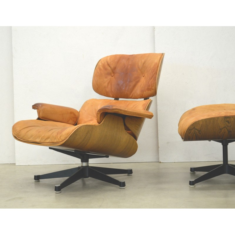 Fantastic Charles Eames Cognac Lounge Chair Ottoman By Herman Miller 1960S Gamerscity Chair Design For Home Gamerscityorg