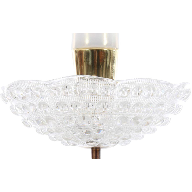 Scandinavian vintage ceiling lamp model Crystal by Carl Fagerlund for Orrefors - 1960s