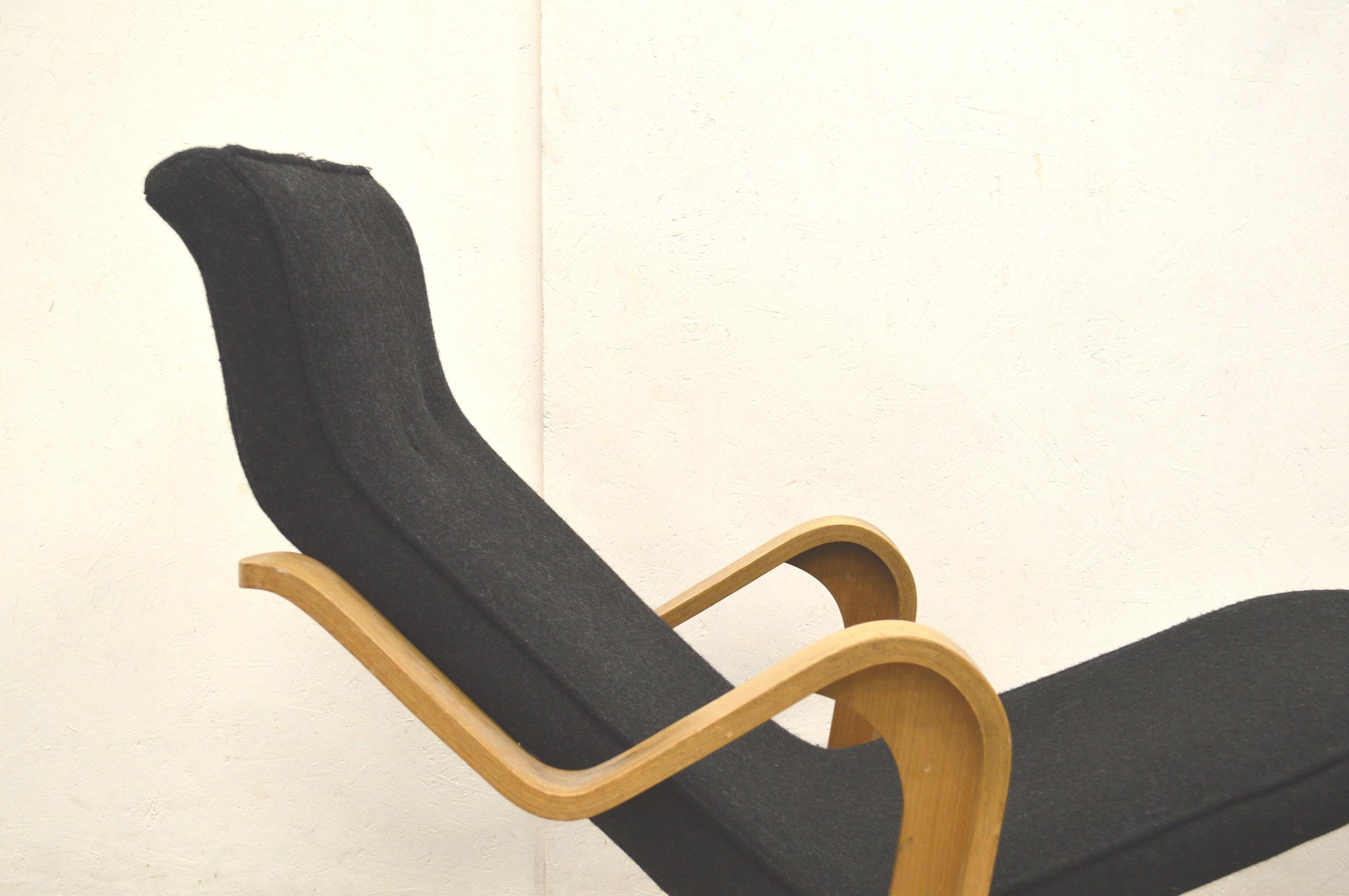 Vintage Black Chaise Longue By Marcel Breuer For Isokon