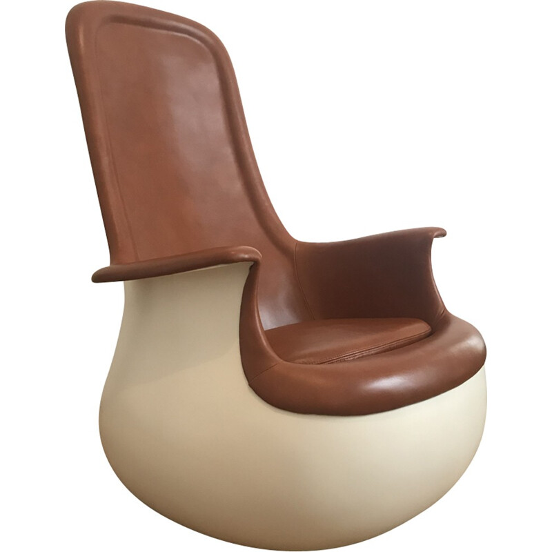 """""""Culbuto"""" vintage armchair by Marc Held for Knoll International - 1970s"""