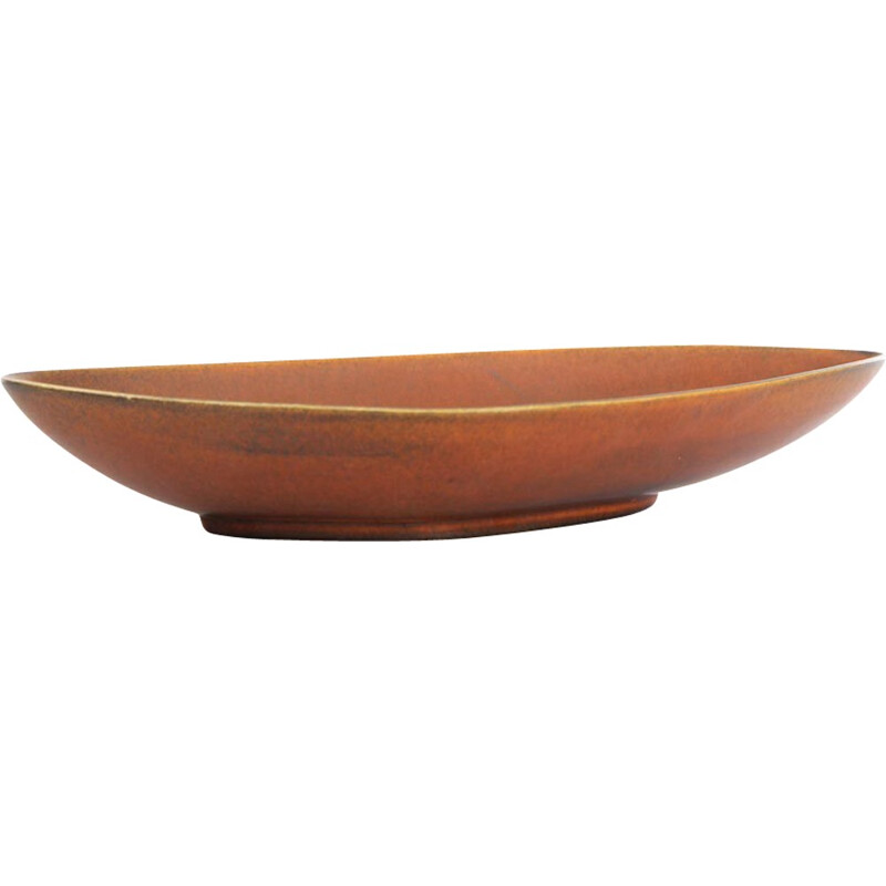 Large Scandinavian ceramic bowl by Gunnard Nylund for Nymolle - 1960s