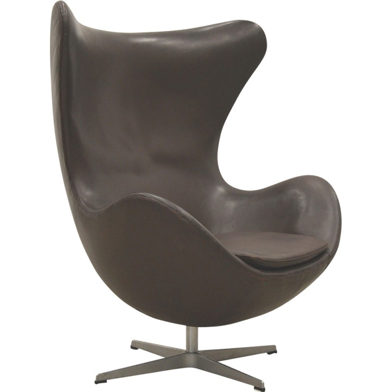 Vintage Brown Egg Chair By Arne Jacobsen For Fritz Hansen 1970s