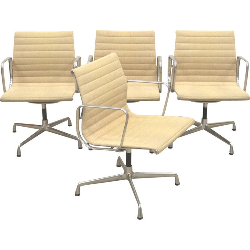 Set of 4 Alu Chair by Charles Eames for Vitra - 2000s