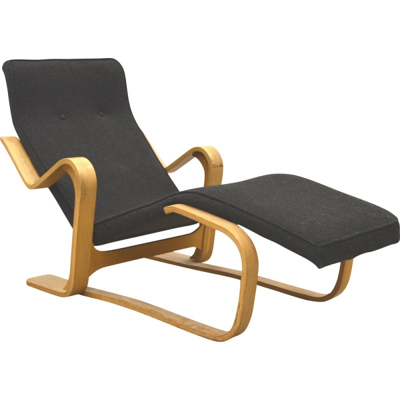 vintage black chaise longue by marcel breuer for isokon 1950s design market. Black Bedroom Furniture Sets. Home Design Ideas
