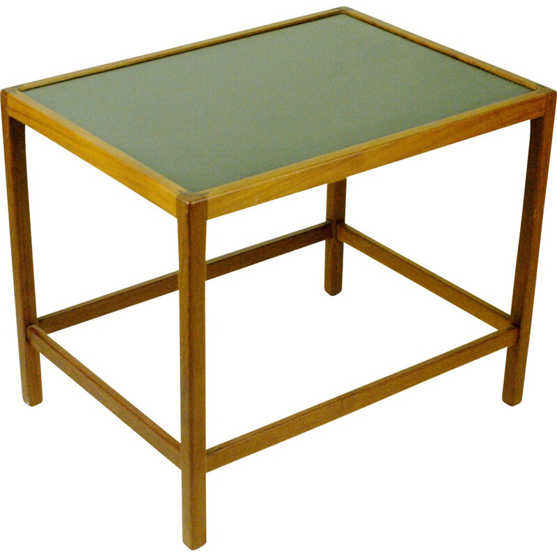 Vintage Danish teak side table with formica top - 1960s