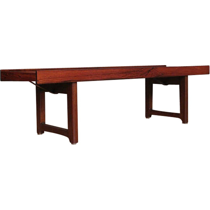 Rosewood Krobo Bench With Planter by Torbjorn Afdal - 1960s