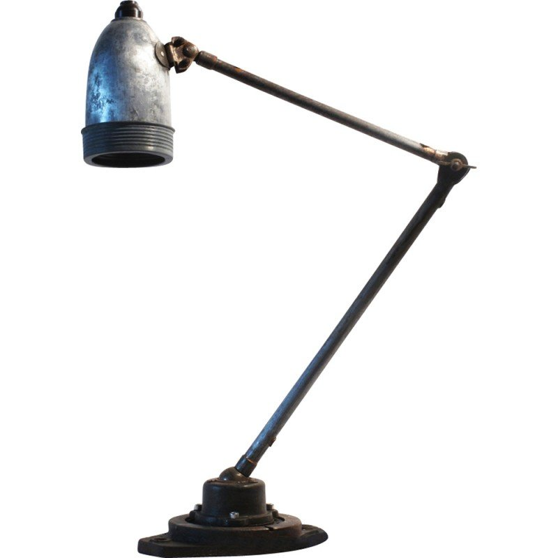 Vintage Industrial Table Lamp - 1930s