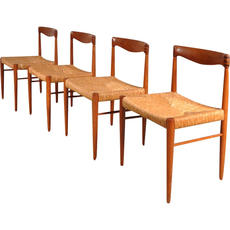 Set of 4 Dining chairs by H.W. KLEIN - 1950s