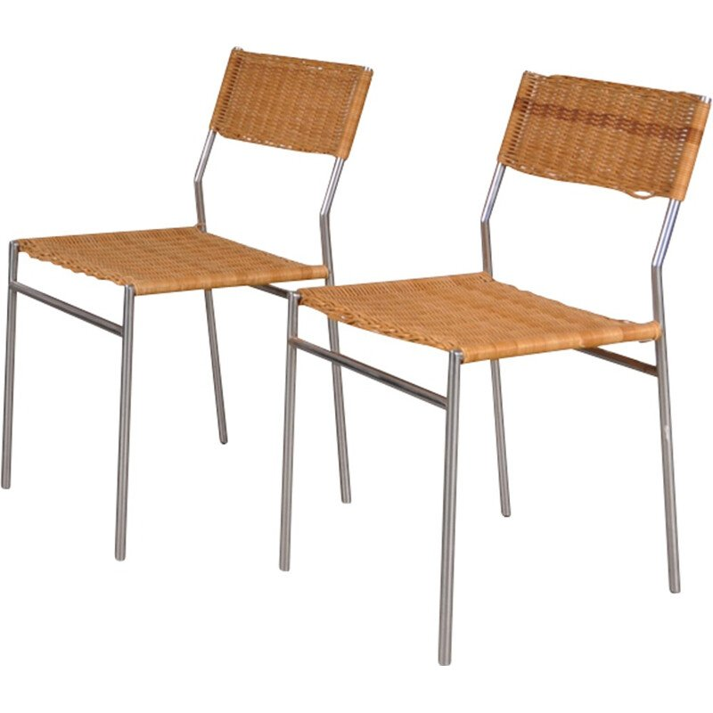 Dining chairs, Martin VISSER - 1960s
