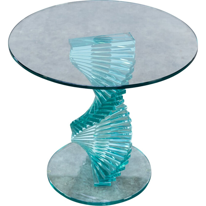 Ravello spiral glass side table - 1980s