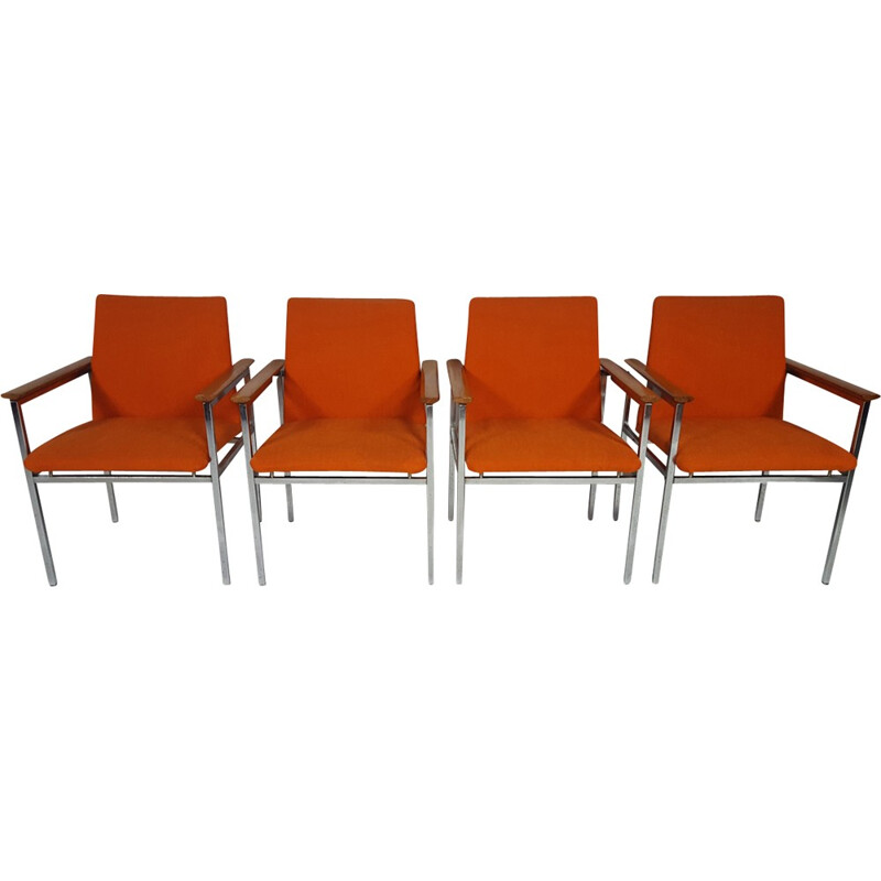 Set of 4 Modernist Chairs by Sigvard Bernadotte - 1960s