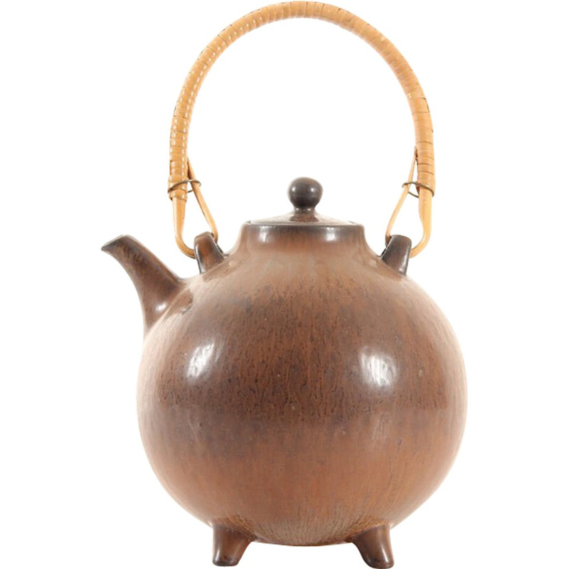 Small Vintage Scandinavian ceramic teapot by Gunnar Nylund - 1960s