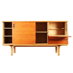 Vintage ash and mahogany sideboard, Joseph-André MOTTE - 1950s