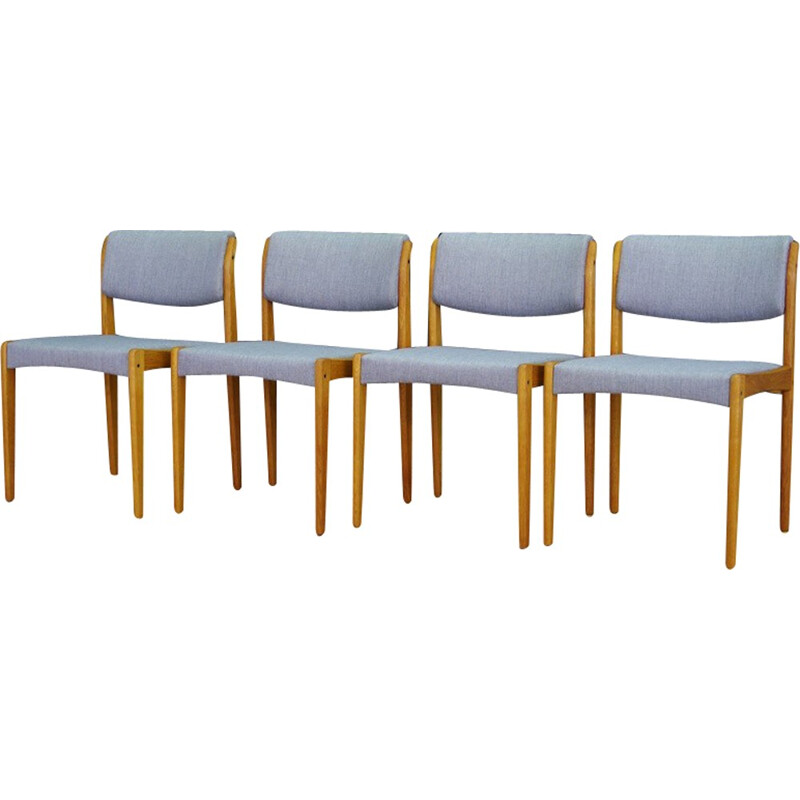 Set of 4 Bramin danish Ash chairs by Henry Walter Klein - 1960s