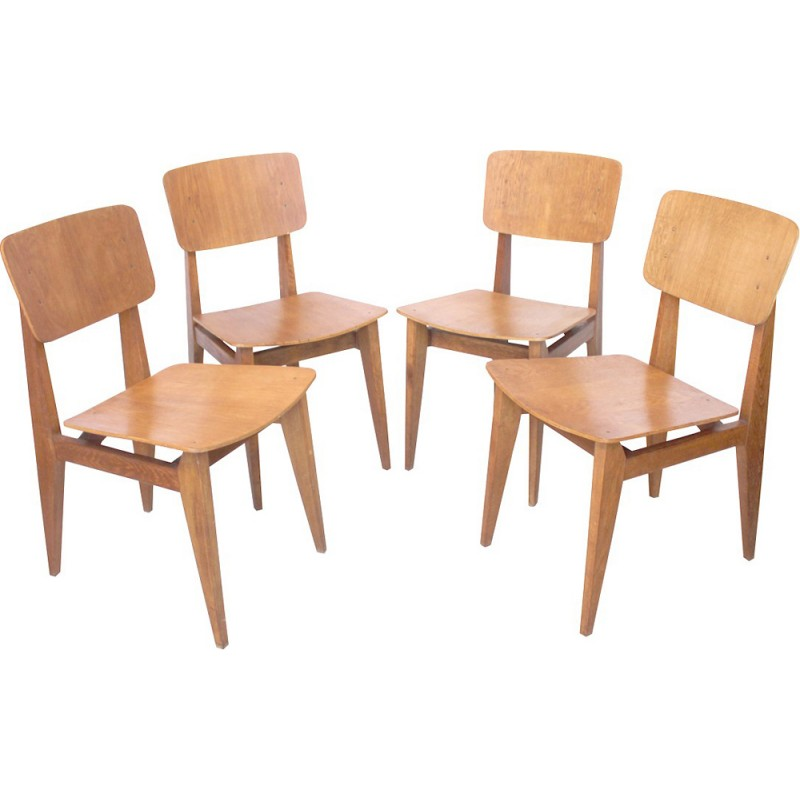 Set of 4 chairs by Marcel Gascoin for ARHEC-SICAM - 1950s
