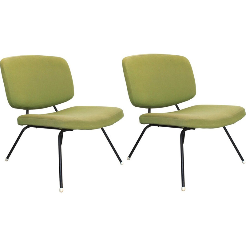 Pair of low chairs CM 190 by Pierre Paulin - 1960s