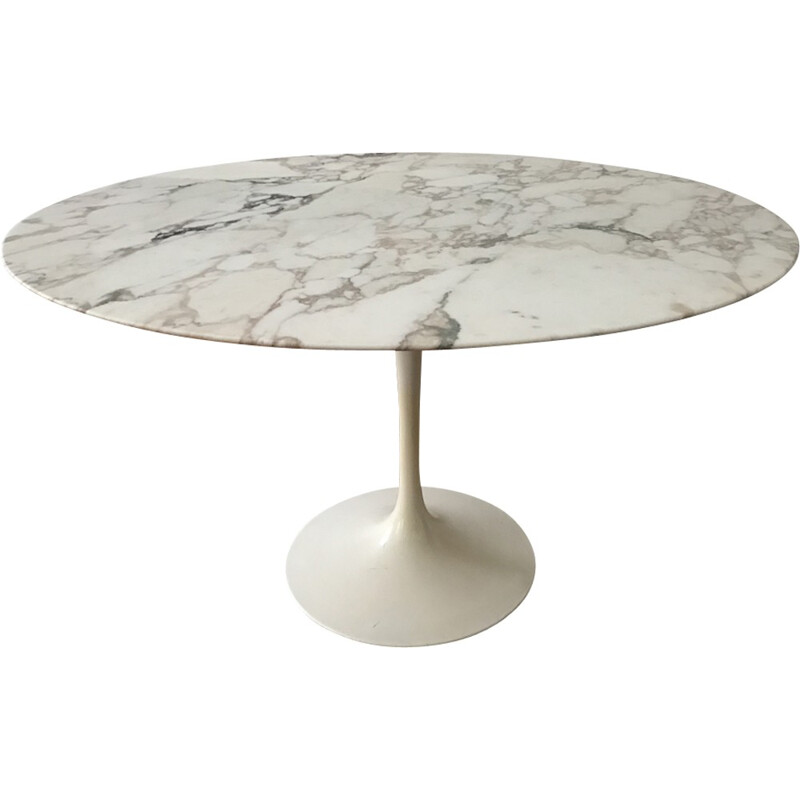 Vintage table by Eero Saarinen Arabescato marble for Knoll International - 1960s